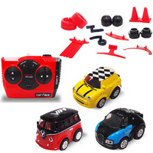 meibeile Kids Juguetes Small RC Stunt Car Carros Mini Cartoon Remote Control Car for Boys Children with Wheels or Road Obstacles(China)