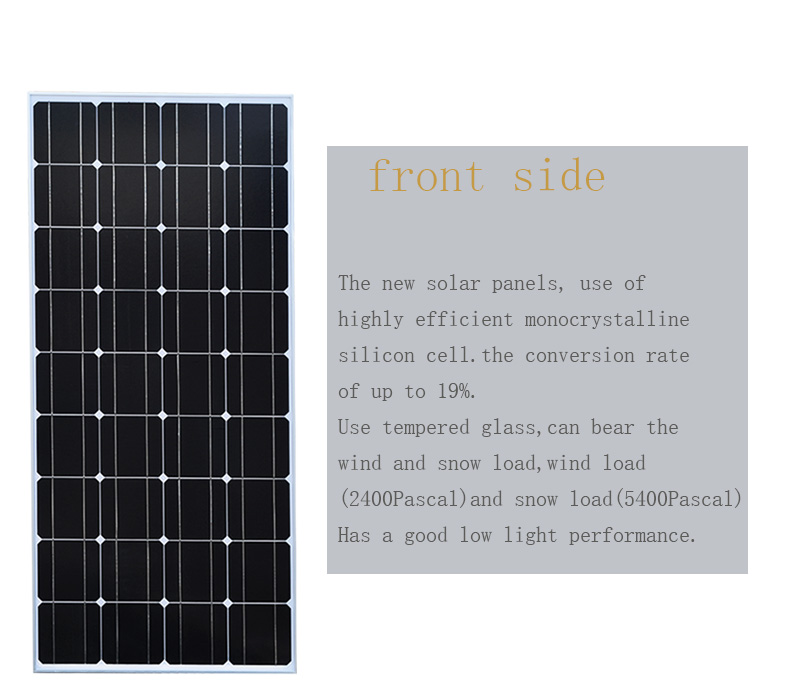 100W Solar Panel Charger Battery Cell Diy 18v Silicon Solar Module