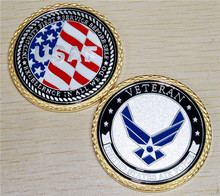 NEW U.S. Air Force Veteran Challenge Coin.,Free Shipping(China)