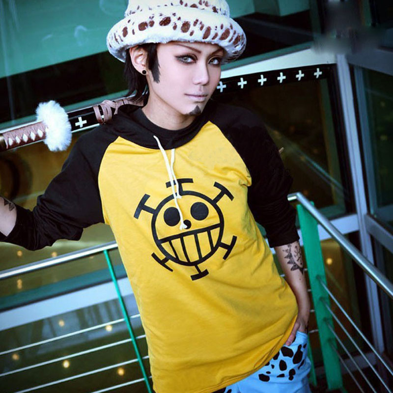 Anime Cosplay One Piece Costume Trafalgar Law Hoodies Masquerade Clothes Top for Man Women Long Sleeve Plus Size 11