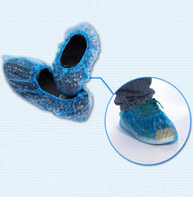 Hot New Rain Waterproof Shoe Covers Disposable Blue Shoe Covers 100pcs For Home Hotel Company(China)