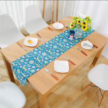 1 Piece Beautiful Decorative Table Runner For Home Dining Deer Printed Blue/Purple Table Runner For Wedding Party 3 Sizes V20(China)