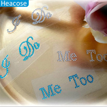 Creative I DO ME TOO wedding rhinestone wall sticker decoration for shoes PVC mural poster home decoration
