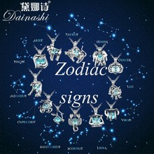 New Arrival 12 Constellation Cage Pearl Pendant Necklace Women Wedding Jewelry Unique Customized Zodiac Pendants Family Pendants(China)
