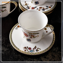 1Pcs Personality Afternoon Tea Cup Novelty Gift Creative Scented Tea Cup Bone China Cup And Saucer Gift Set Coffee Cup 6ZDZ503(China)