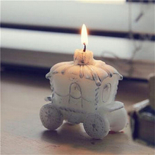 1Pcs Newest Candle Favor Elegant Pumpkin Carriage Candle Gift Romantic Wedding Gifts(China)