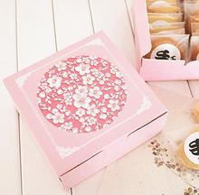 Alice,Pink flower Printed Backing Food Carton Boxes,Cookies Boxes,Chocolate cake Packaging Box, Wedding Gift Box for Guest