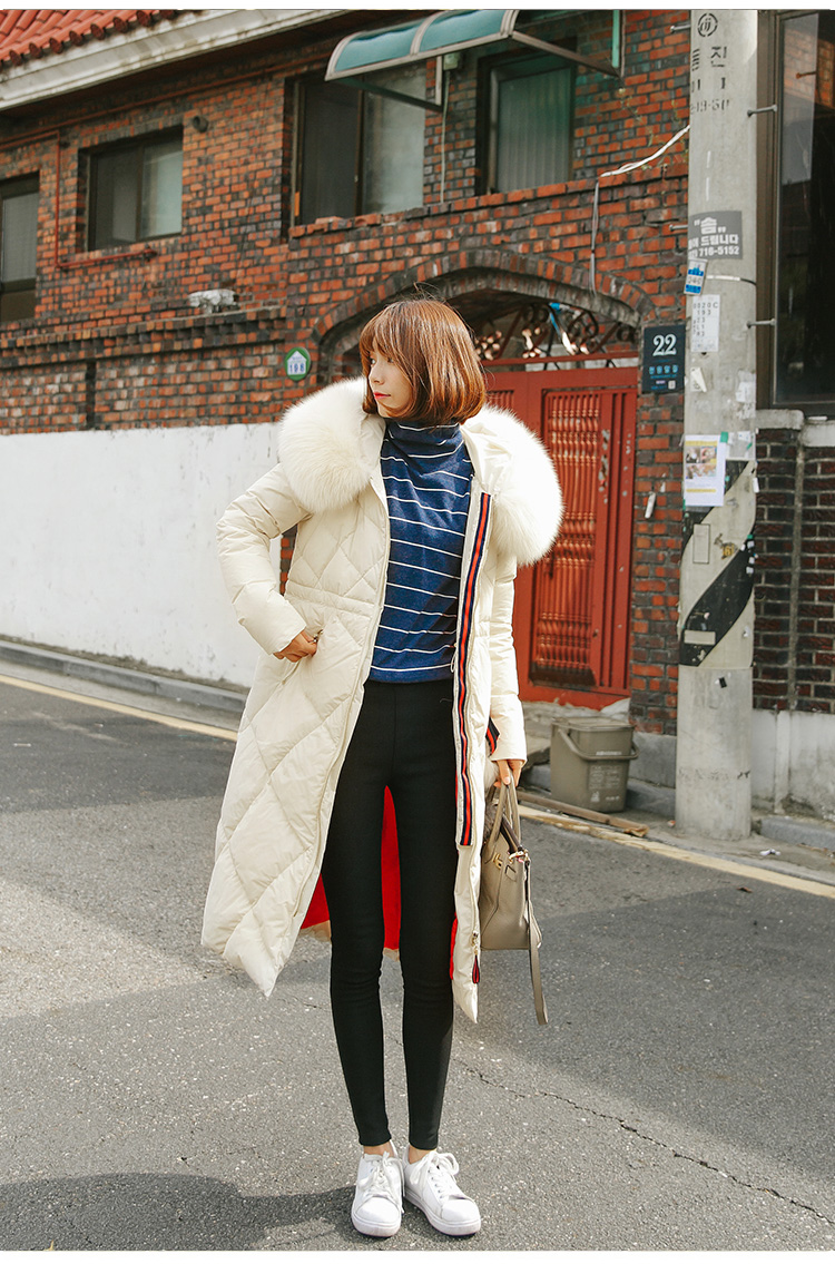 2016 medium-long cotton down coat female ultra-large over knee fox fur collar slim thickening outerwear Одежда и ак�е��уары<br><br><br>Aliexpress
