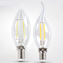 20pcs 220V 230V 240V 2W 4W E14 LED Filament Bulb clear grass Edison light bulb led ceiling chandelier light bulb Home Decoration