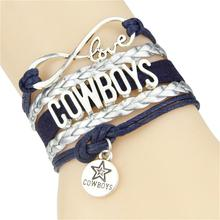 Buy Infinity Love Dallas Cowboys bracelet football team Charm bracelet & bangles sport team gift women men jewelry Drop for $1.25 in AliExpress store