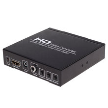 NEW HD 1080P 720P SCART To HDMI Video Converter Splitter HDTV Audio Projector for HDTV DVD with Power Supply Adapter