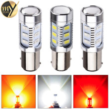 2pcs Led car bulb 7443 7440 3157 3156 1156 1157 BA15S BAU15S BAY15D Xenon White W21/ 5W High power Cree Chips lamp light source