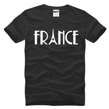 France Eiffel Tower Creative Printed Men's T-Shirt T Shirt Men 2016 New Short Sleeve Cotton Casual Top Tee Camisetas Hombre