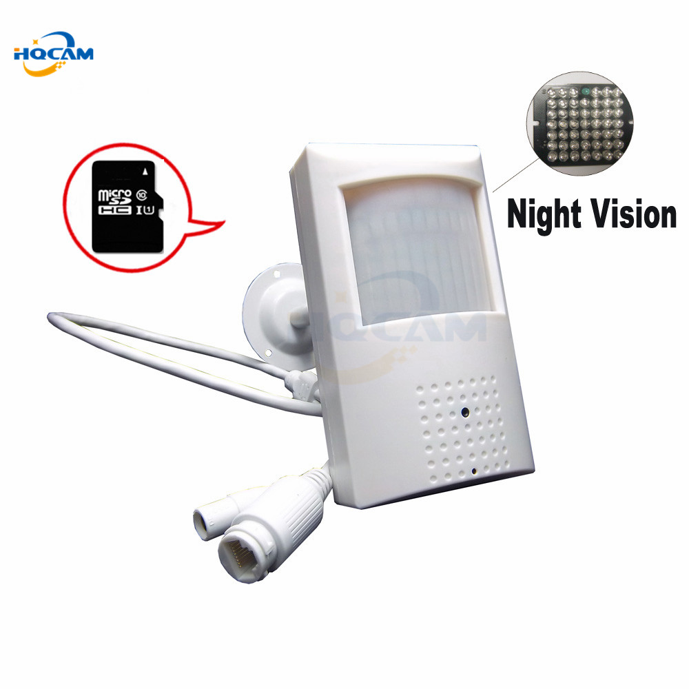 HQCAM 720P Audio\SD Card\ Mini IP Camera 940nm Night vision IR Camera Indoor Security CCTV IP Camera TF card Metal stents camhi<br>