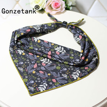 Gonzetank Luxury Brand 2017 New Womens Beautiful Art Small Scarves Wild Decorative Small Square Scarf To Send Leather Deduction