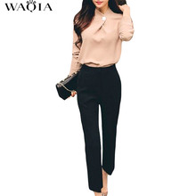 Buy WAQIA 2 pieces set 2018 Women Clothing 2 Pieces Lady Clothing Set Large Size S-XL Spring Summer Long Sleeve Chiffon Blouse+pants for $26.69 in AliExpress store