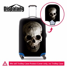 Dispalang Skull Suitcase Cover for Duffle Floral print Stretch Luggage Protector Cool Waterproof Luggage Cover for 18-30 inch