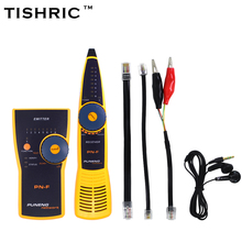 TISHRIC PuNeng Cat5 Cat6 RJ45 UTP STP Line Finder Telephone Wire Tracker Diagnose Tone Tool Kit LAN Network Cable Tester