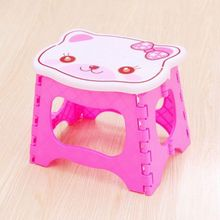 Cartoon chair baby kids children cute plastic folding chair portable home fishing stool free shipping(China)