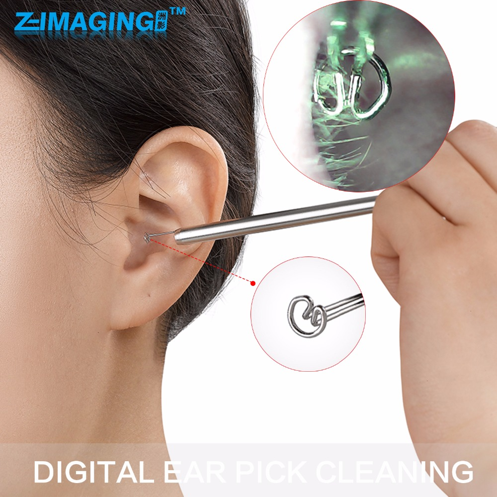 Ear Spoon Cleaners dig Digital Visible Tool Stainless Steel Spoon Safe Healthy Cleaning Ear Care <br>