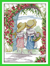 Joy sunday figure style The door of the roses cross stitch patterns alphabet printable for needlecraft supplies point de croix(China)