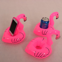 Inflatable Water Float Drink Holder Pink Inflated Mini Flamingo Shaped Toy Swimming Pool Party Favors Hot Toys Cellphone Holder