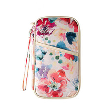 Fashion Creative Pattern Print Travel Women Needed Documents Package Passport Credit Card ID Holder Organizers(China)