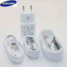 Original 대 한 Samsung Galaxy Fast 충전기 여행 벽 9V2A 나 5V2A charge 어댑터 주 4 5 J5 J7 S6 S7 edge S4 Micro USB Cable(China)