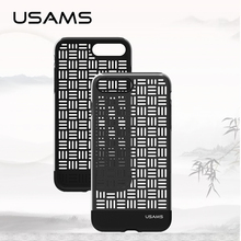 USAMS Art Craft Style Skeleton TPU Case for iphone7 ipone 7 iphone 7 Cover Case 4.7 inch & 5.5 inch(China)