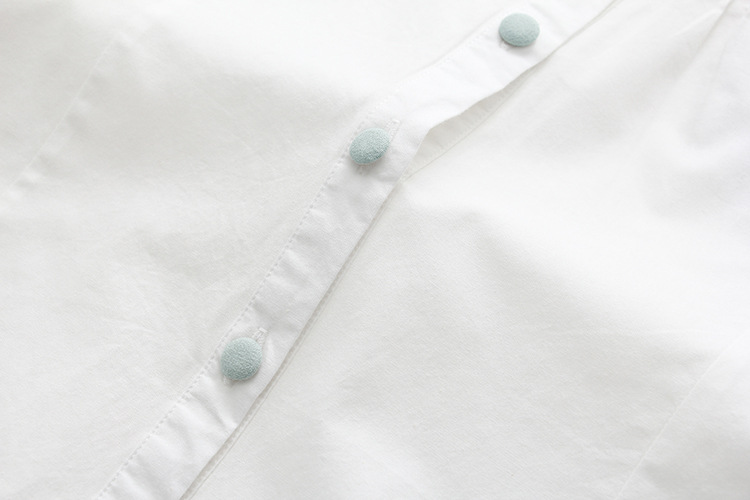 Floral Embroidery White Blouse 18
