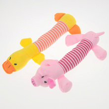 Dog Toys Pet  Short Plush BB Squeaker Interesting Pet Toy Duck & Pig & Elephant Shape Toys