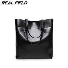 Fashion Women Pu Leather Handbags Black Bucket Tote Bags Ladies Cross Body Bags Large Capacity Ladies Casual Shopping Bag 282A(China)