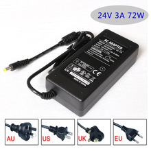 Ac dc adapter 24V 3A 72W power supply switching power adapter Led Strips transforme adapter lighting Table type