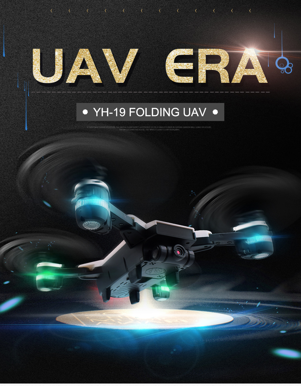 1.New 2.4Ghz 4ch foldable FPV rc drone with 2MP wide angle wifi camera