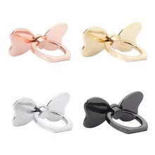 New Finger Ring Holder Universal Mobile Phone Smartphone Bow Stander Finger Grip for iPhone Smart Phone Luxury Couple Mode