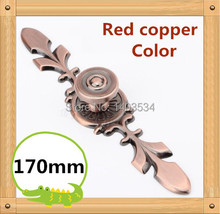 170mm Red copper Zinc Alloy Kitchen Furniture handle bedroom drawer pulls(China)