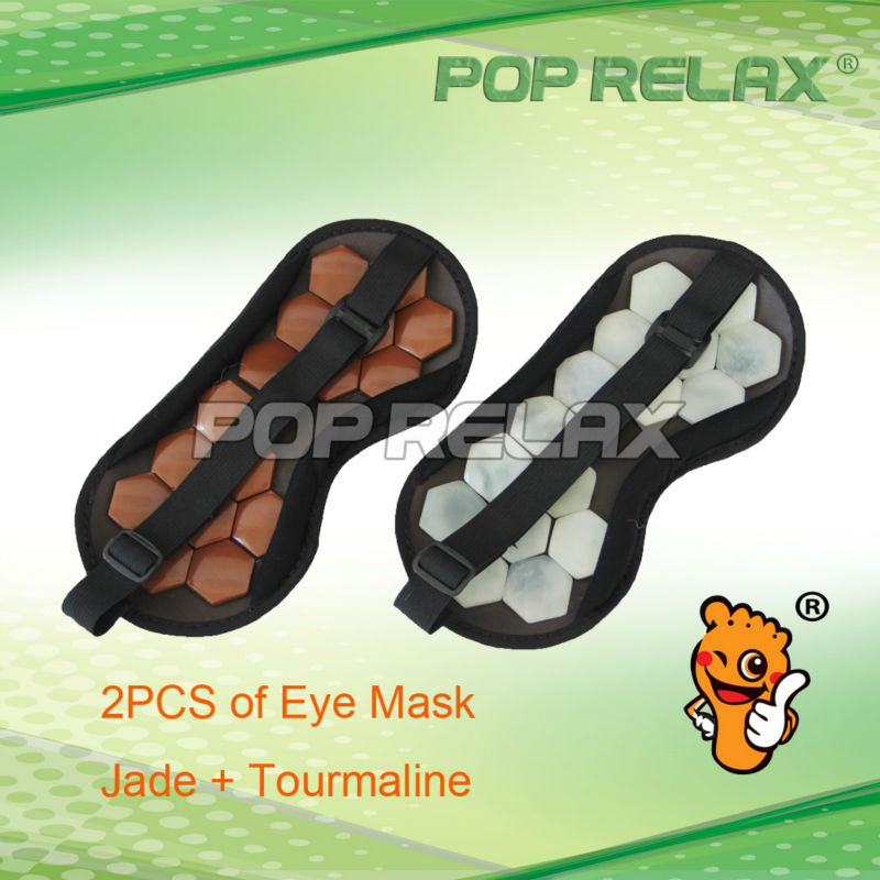 POP RELAX one pair Physical therapy natural jade tourmaline germaniums eye patch facial mask<br><br>Aliexpress