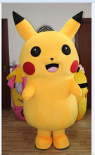 Real photos from factory Deluxe Pikachu Mascot Costume Cartoon Character Costumes Mascot Costume Fancy Dress Party Suit