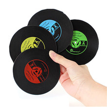 1pcs Table Cup Mat Creative Decor Coffee Drink Placemat Tableware Spinning Retro Vinyl CD Record Drinks Coasters