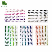 (Packs of 25) Self Adhesive Rhinestones 120pcs / 4colors mix acrylic gem sticker scrapbooking embellishments(China)