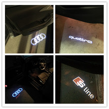 2X LED Car Door Welcome Light Car Door Laser Shadow Led Projector Logo For AUDI A3 A4 A5 A6 A7 A8 R8 Q5 Q7 TT S Line