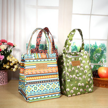 Portable Insulated Lunch Bag Canvas Material Thermal Lovely Storage Container For Women Kids Students Lunch Box Bag