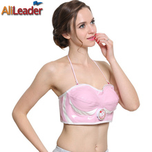 Pink Bra Electric Nipples Shock Vibrating Therapy Bra Massager With Breasts Essential Oil Far Infrared Electric Breast Massage