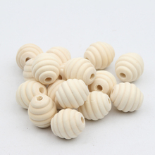 Buy Wood & Wooden Beads 50pc Unfinished Natural Egg Stripe Style Diy Pacifier Clip Wood Qrganic Baby Smooth Teether Bead for $6.07 in AliExpress store
