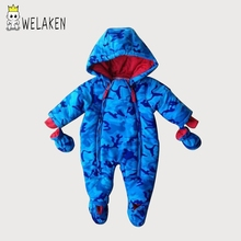 4 Colors Boys Girls Romper Winter Thick Warm Hooded  Infant Jumpsuits One-Pieces Baby Clothing Child Apparel Toddler Romper