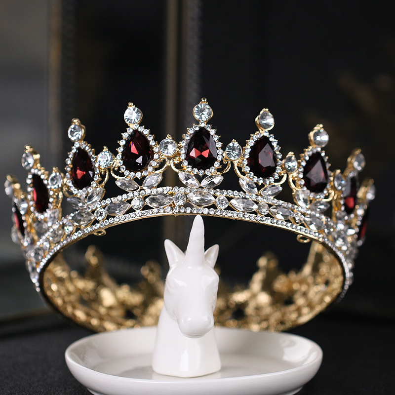 hot sale rhinestone crown fashion Bridal Wedding hair Accessories full circle big wedding tiara bride headdress crown