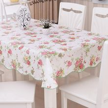 2017 Waterproof & Oilproof Wipe Clean PVC Vinyl Tablecloth Dining Kitchen Table Cover Protector Covering M9(China)