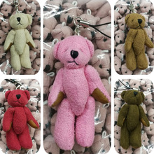 2017 New 7cm 12 pcs Suede Fabric bear stuffed toys plush doll birthday Day gift for baby kids children present tedddy bear