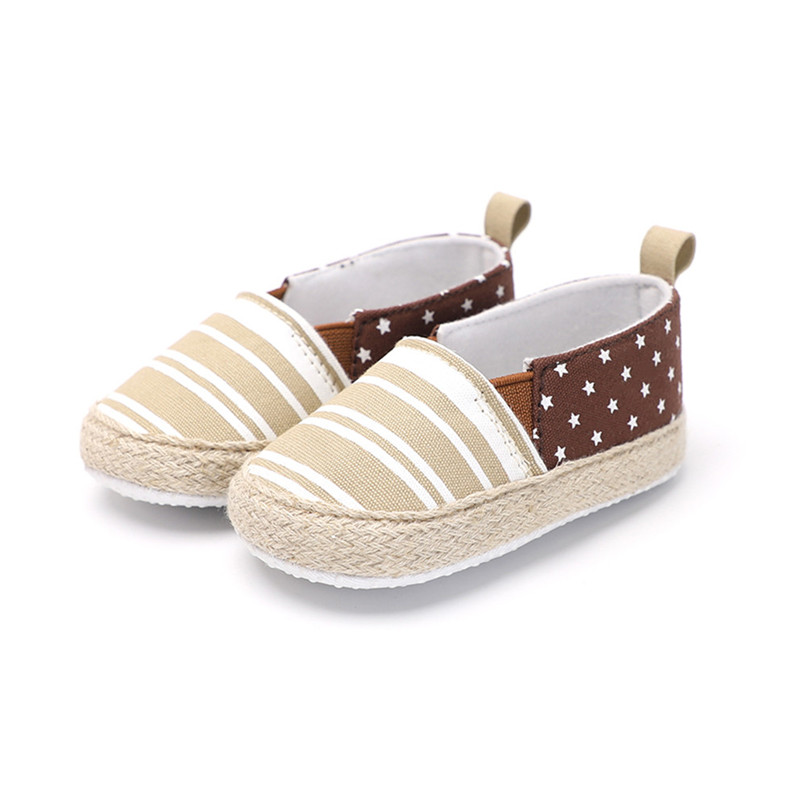 Baby Girl Shoes Toddler Infant Baby Girl Dot Striped Crib Shoes Soft Sole Anti-slip Single Shoes Baby First Walker Shoes M30#F (22)