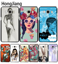 HongJiang The Girl With Wine Glass Design cover phone case for Samsung Galaxy J1 J2 J3 J5 J7 MINI ACE 2016 2015(China)